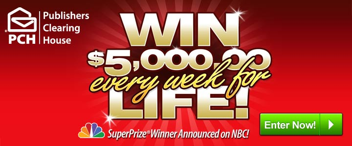 Publisher's Clearing House – Win $5,000 a week for LIFE!