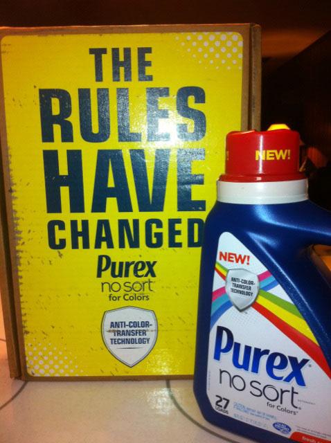New from Purex! No Sort Laundry Detergent!
