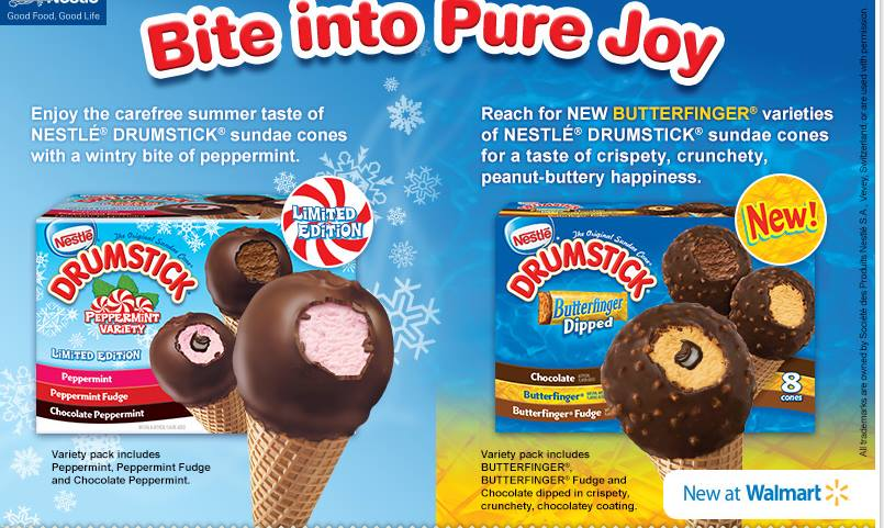New Drumstick Ice Cream Cone Flavors