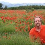 bruce in france poppy field