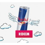 red bull free can