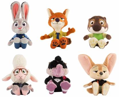 ... The Loveable Lineup Of Characters From The Movieu2014Officer Judy Hopps, Nick  Wilde, Emmitt Otterton, Finnick, Mr. Big And Assistant Mayor Bellwether.