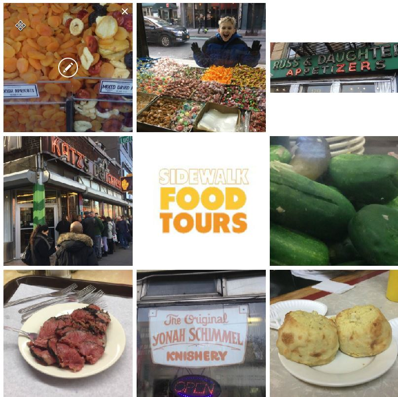 NYC Food Tour Collage